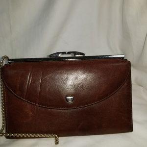 B8,070 Bosca Mezza Luna Leather Brown Wallet